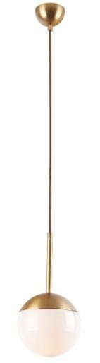 Dallas - Pendul din metal auriu cu abajur din sticlă