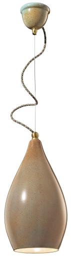 C1412 - Pendul retro maro din ceramică