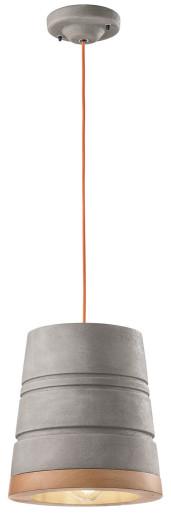C1786 - Pendul retro gri din ceramică cu fir potocaliu