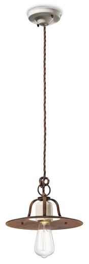 C1431 - Pendul retro maro din ceramică