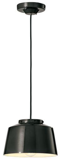 C2000 - Pendul retro negru sau roșu din ceramică