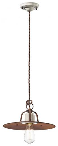 C1432 - Pendul retro maro din ceramică