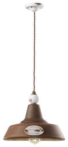 C1600 - Pendul retro maro din ceramică