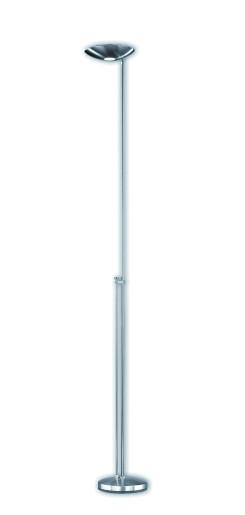 Icons P-1129 - Lampă de podea argintie din metal