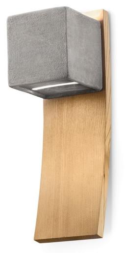 C1798 - Aplică gri sau albă din ceramică și lemn