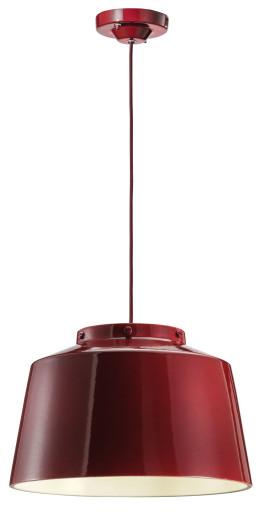 C2001 - Pendul retro negru sau roșu din ceramică