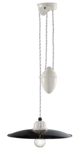 C1616 - Pendul retro ajustabil cu finisaj alb din ceramică