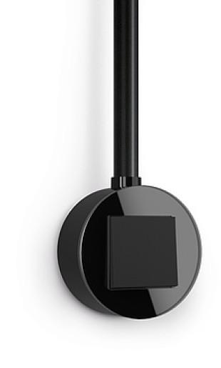 Întrerupător simplu GIRA Studio negru mat cu ramă simplă sticlă neagră