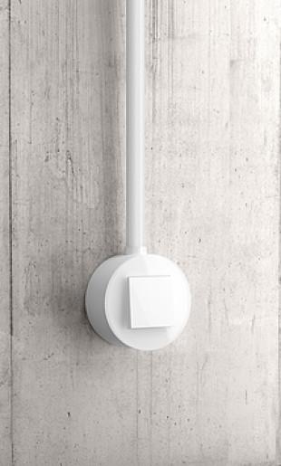 Întrerupător simplu GIRA Studio alb lucios cu ramă simplă sticlă albă