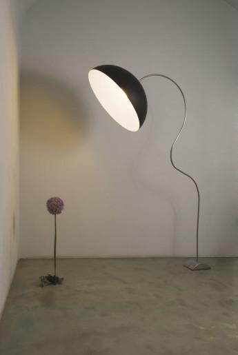 Mezza Luna Piantana Negru/Alb - Lampă de podea