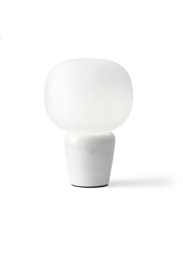 Bambo III  - Lampă de masă albă din sticlă