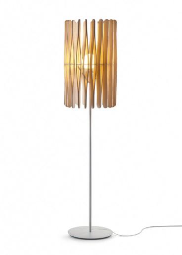 Stick C01 - Lampă de podea minimalistă cu abajur din lemn