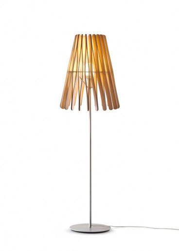 Stick C269 - Lampă de podea minimalistă cu abajur din lemn