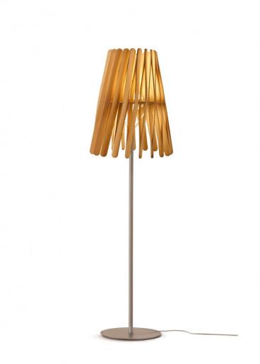 Stick C669 - Lampă de podea minimalistă cu abajur din lemn