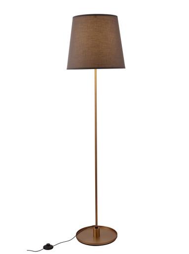 Sydney - Lampă de podea maro cu abajur din acril