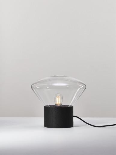 Muffins Mini Wood - Lampă de masă din lemn cu abajur din sticlă
