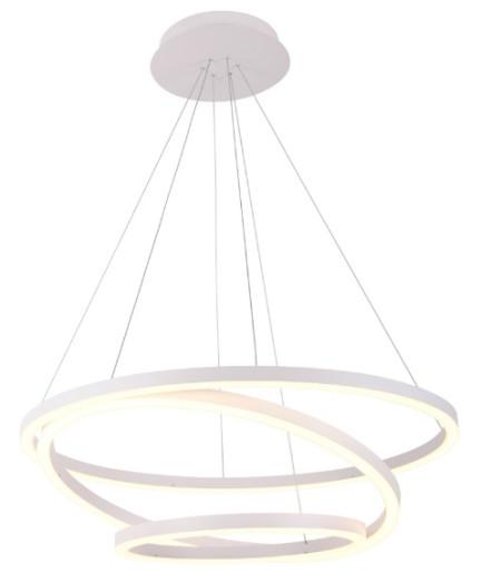 Angel 80 - Lustră albă din metal cu cercuri ajustabile