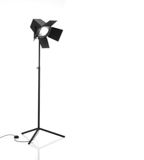 Foto E27 Negru - Lampă de podea