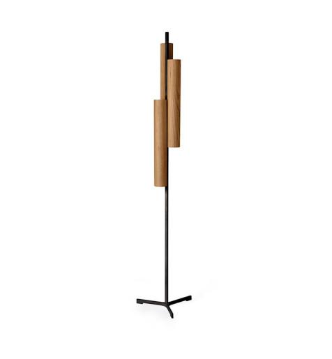 Black Note Triplet I - Lampă de podea cilindrică cu 3 surse de lumină