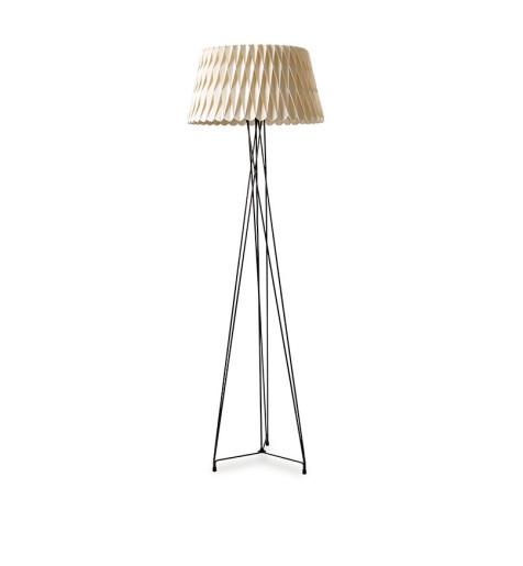 Lola I  - Lampă de podea din furnir cu forme tridimensionale