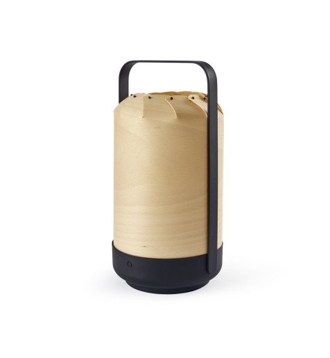 Mini Chou- Lampă portabilă cilindrică din furnir
