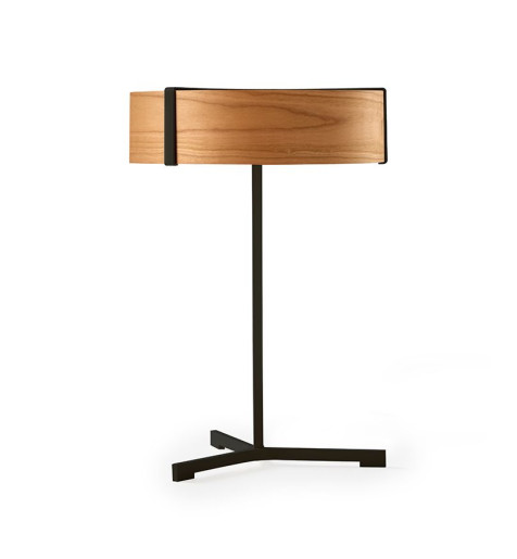 Thesis I - Lampă de masă modernă din furnir cu bază metalică