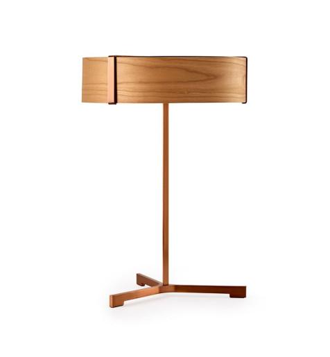 Thesis V - Lampă de masă modernă din furnir cu bază metalică