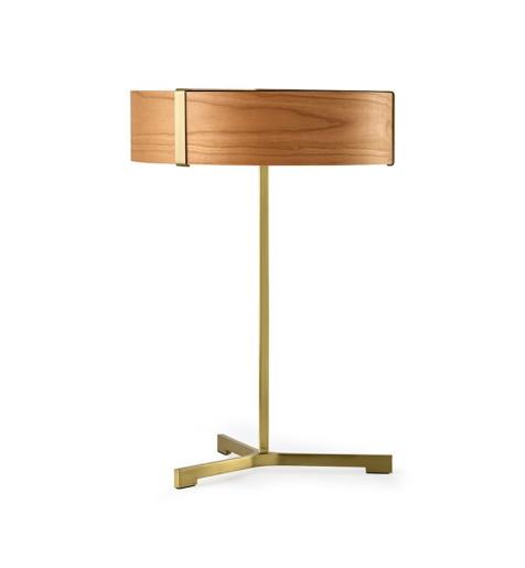 Thesis IV - Lampă de masă modernă din furnir cu bază metalică