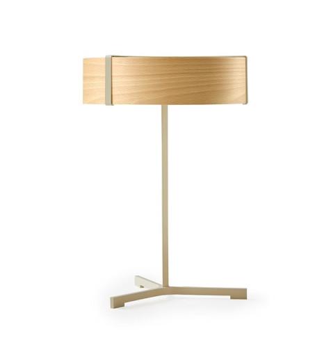 Thesis II - Lampă de masă modernă din furnir cu bază metalică