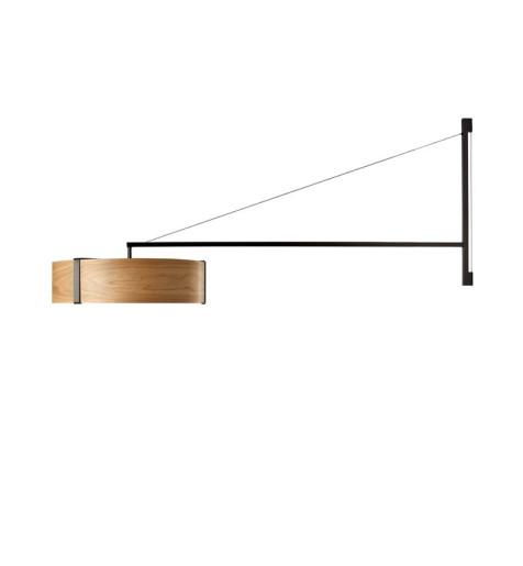 Thesis - Aplică modernă din furnir cu braț metalic