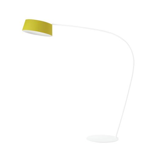 Oxygen 36 W - Lampă de podea LED cu abajur galben
