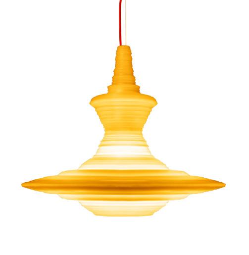 Stupa Large - Lustră cu abajur galben din rășină