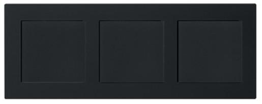 Trei întrerupătoare simple GIRA E2 flat cu ramă triplă negru mat