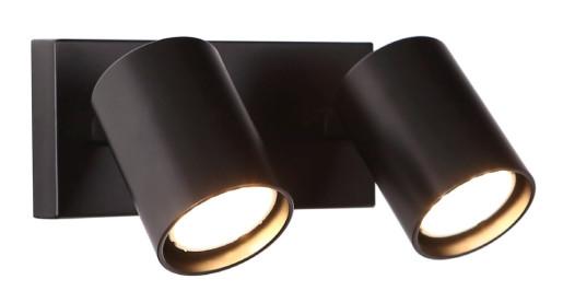 Top II - Aplică cilindrică cu 2 surse de lumină din metal