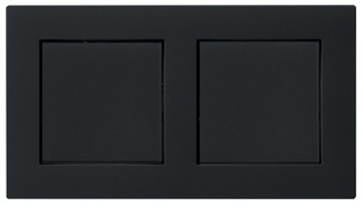 Două întrerupătoare simple GIRA E2 flat cu ramă dublă negru mat