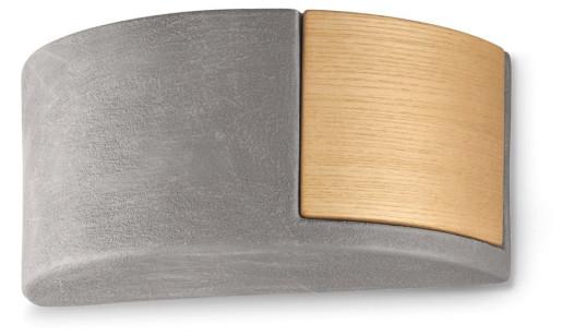 C1795 - Aplică gri sau albă din ceramică și lemn