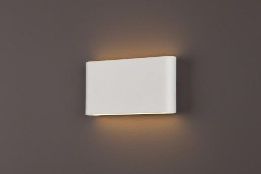 Zone II - Aplică albă rectangulară din metal