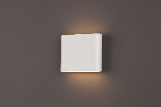 Zone I - Aplică albă rectangulară din metal