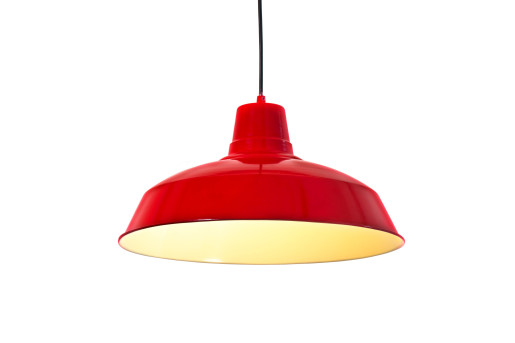 Foundry 40 - Pendul cu abajur roșu în stil retro