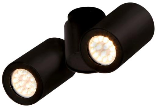 Barro II - Plafonieră cu 2 surse de lumină din aluminiu