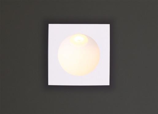 Time II - Lampă încastrată în perete pătrată din aluminiu