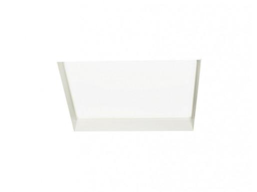 Ohio Square Alb  149 W 3000 K - Lampă încastrată pătrată din aluminiu pentru birouri