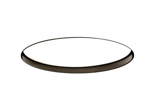 Ohio Negru  137 W 3000 K - Lampă încastrată rotundă din aluminiu pentru birouri