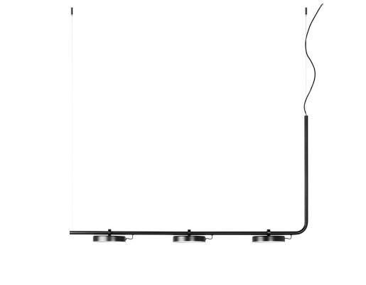 Aro 3 x 10 W - Lustră neagră cu 3 surse de lumină ajustabile cu finisaj mat