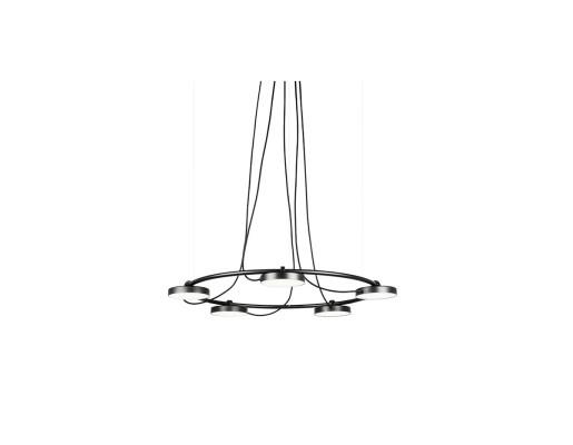 Aro 87 LED - Lustră neagră cu 5 surse de lumină ajustabile cu finisaj mat