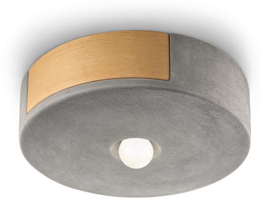 C1790 - Plafonieră gri sau albă din ceramică și lemn