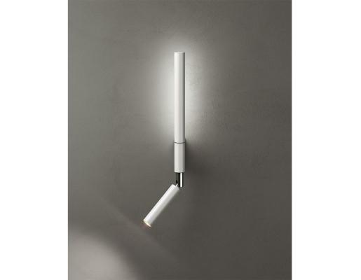 Canut LED - Aplică de citit albă sau neagră cilindrică ajustabilă