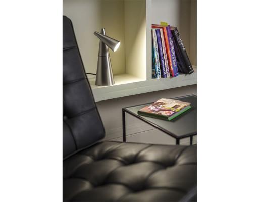 Cornet - Lampă de birou ajustabilă de formă conică argintie