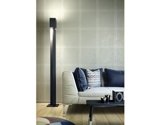 Duo - Lampă de podea albă sau neagră cu finisaj mat