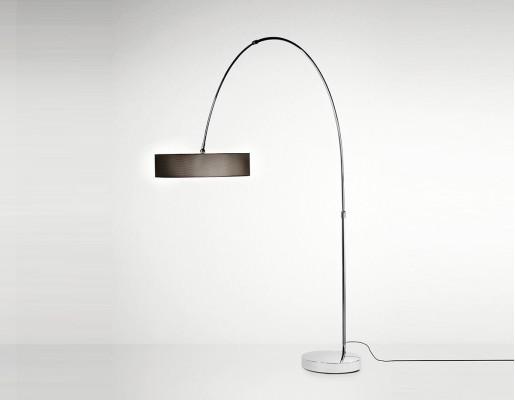 Iris M-2718 - Lampă de podea neagră ajustabilă